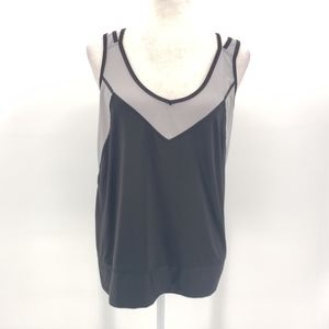 Lucy Lucy Tech black & gray active wear tank top L